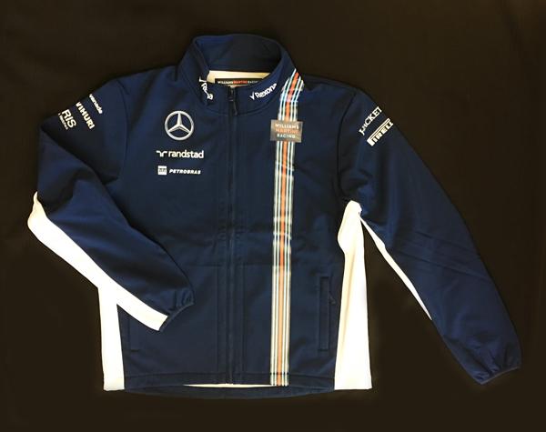 2016年 ウィリアムズ チーム支給品 チームソフトシェルジャケット(フリースブルゾン) ロシアGP用 新品 ビニール袋入り サイズL