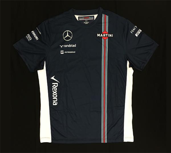 2016年 ウィリアムズ チーム支給品 チームTシャツ 新品 ビニール袋入り サイズXL (前後青 脇白)A