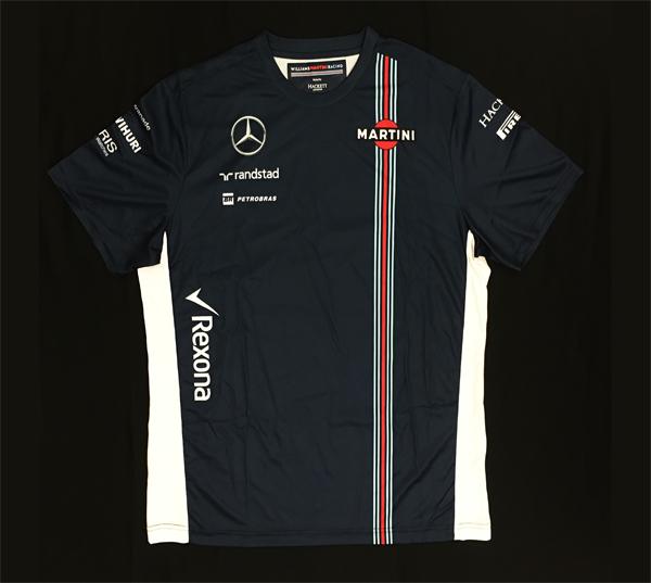 2016年 ウィリアムズ チーム支給品 チームTシャツ 新品 ビニール袋入り サイズXL (前後青 脇白)B