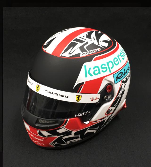 【並行輸入品】C.ルクレール 2021 フェラーリ 1/2ヘルメット