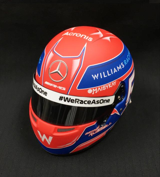 【並行輸入品】G.ラッセル 2021年 ウィリアムズ  1/2ヘルメット