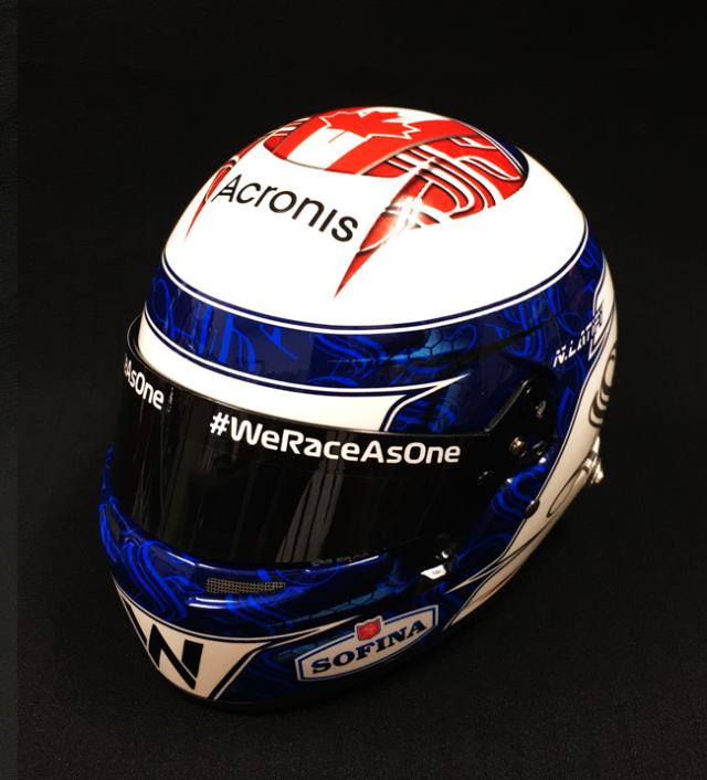 【並行輸入品】N.ラティフィ 2021年 ウィリアムズ 1/2ヘルメット