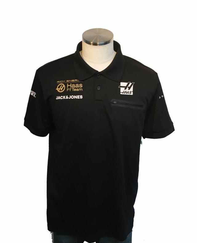 ハースF1チーム 2019 チーム支給品 チームポロシャツ サイズL USED