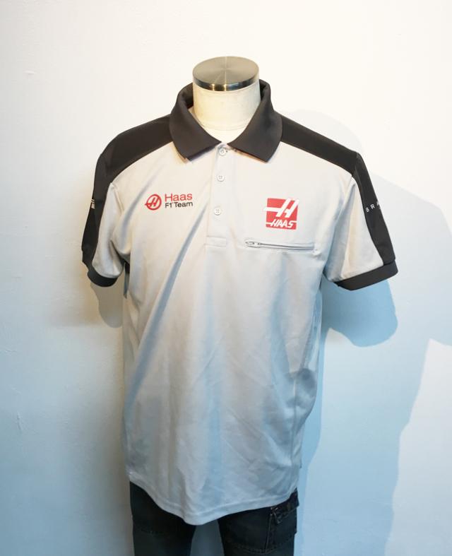 【SALE】ハースF1チーム 2016 チーム支給品 チーム半袖ボタンシャツ サイズL USED