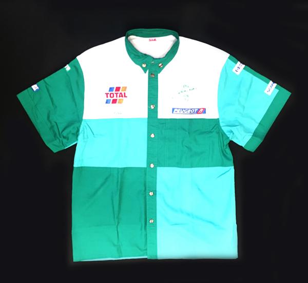 1995年 ジョーダン プジョー チーム支給品 ピットシャツ USED サイズM