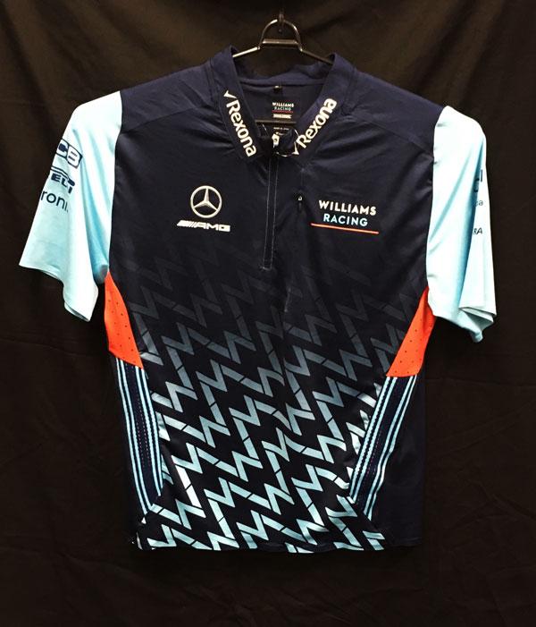 2018 ウィリアムズ チーム支給品 ZIPTシャツ アブダビGP用 USED サイズXL