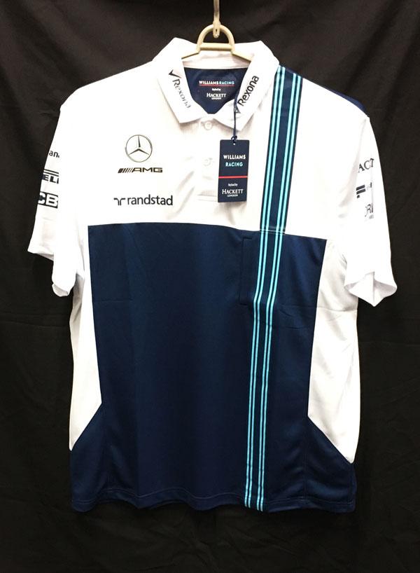 【SALE】2017 ウィリアムズ チーム支給品 ポロシャツ ロシアGP用 新品タグ付き サイズXL