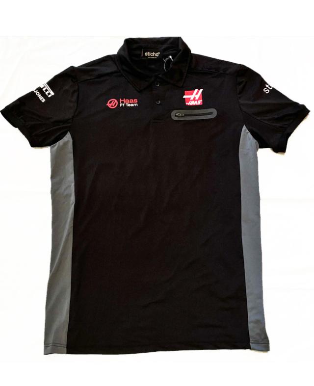 【SALE】ハースF1チーム 2020 チーム支給品 ポロシャツ USED サイズL