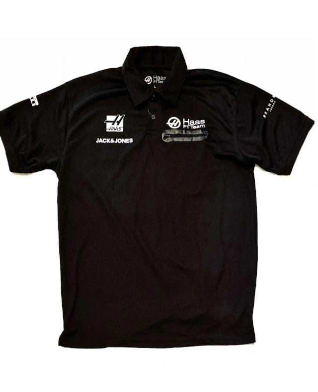 【SALE】ハースF1チーム 2019 チーム支給品 ポロシャツ 後期ver USED サイズL