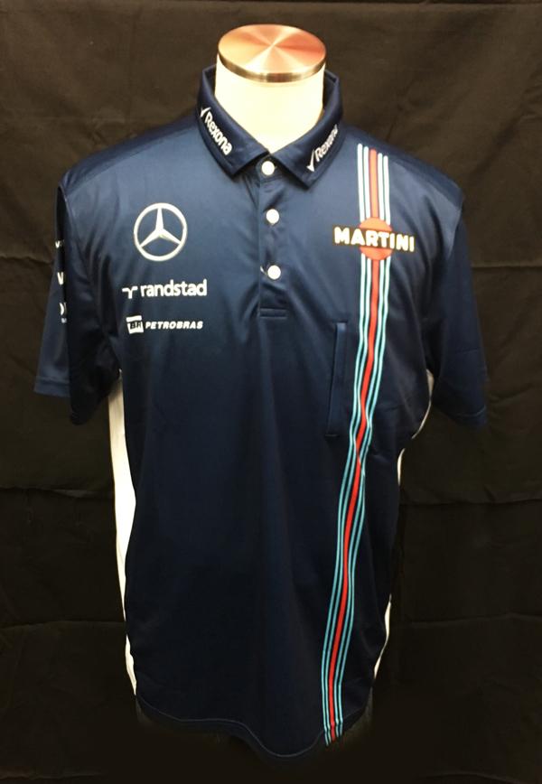 2016 ウィリアムズチーム支給品 PITポロシャツ ブルー マルティニ サイズXL 新品