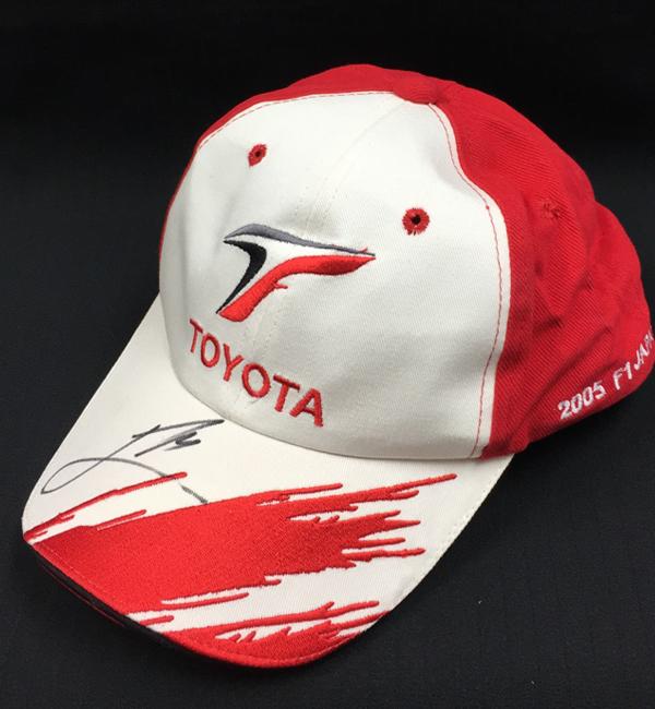 【SALE】J.トゥルーリ直筆サイン入 トヨタ時代 2005年日本GP キャップ