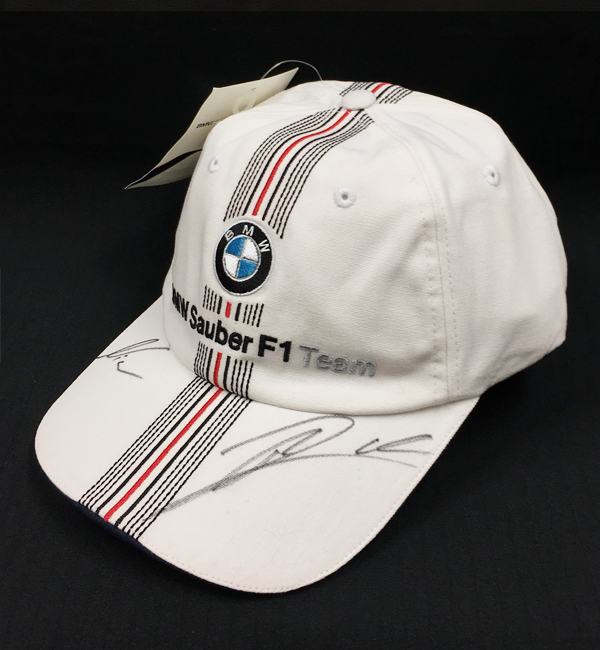 【SALE】R.クビサ・N.ハイドフェルド直筆サイン入 BMWザウバー時代 キャップ