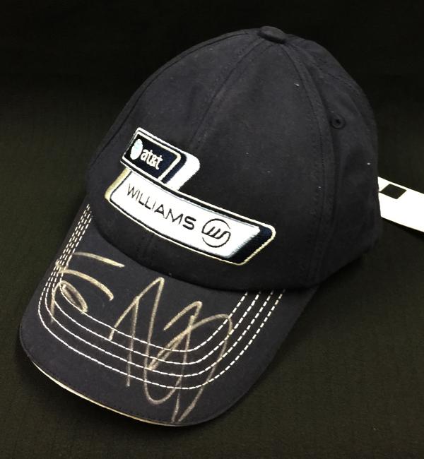 【SALE】N.ヒュルケンベルグ・R.バリチェロ直筆サイン入 ウィリアムズ時代 キャップ