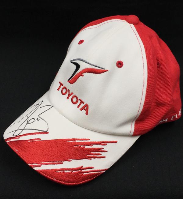 【SALE】R.ブリスコー直筆サイン入 トヨタ時代 2004年日本GPキャップ