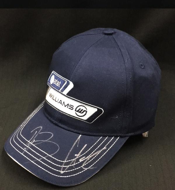 【SALE】N.ヒュルケンベルグ・R.バリチェロ直筆サイン入 ウィリアムズ時代キャップ