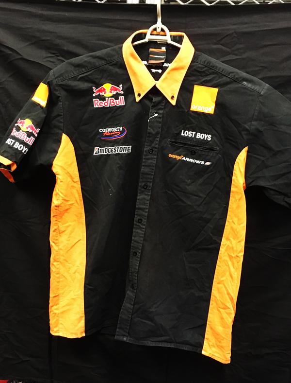 2002 オレンジアロウズ チーム支給品 チームPIT(ピット)シャツ USED サイズL
