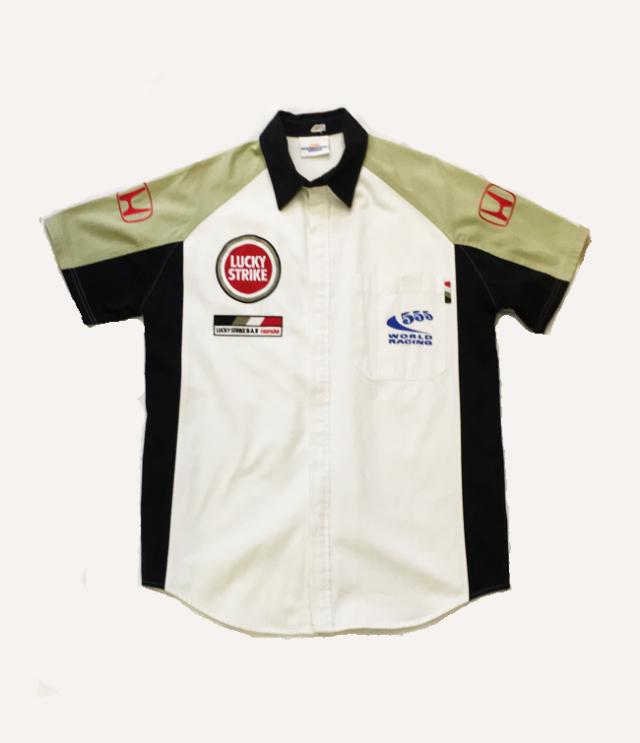 2002 BAR F1 チーム支給品 PITシャツ USED サイズS(大きめ)