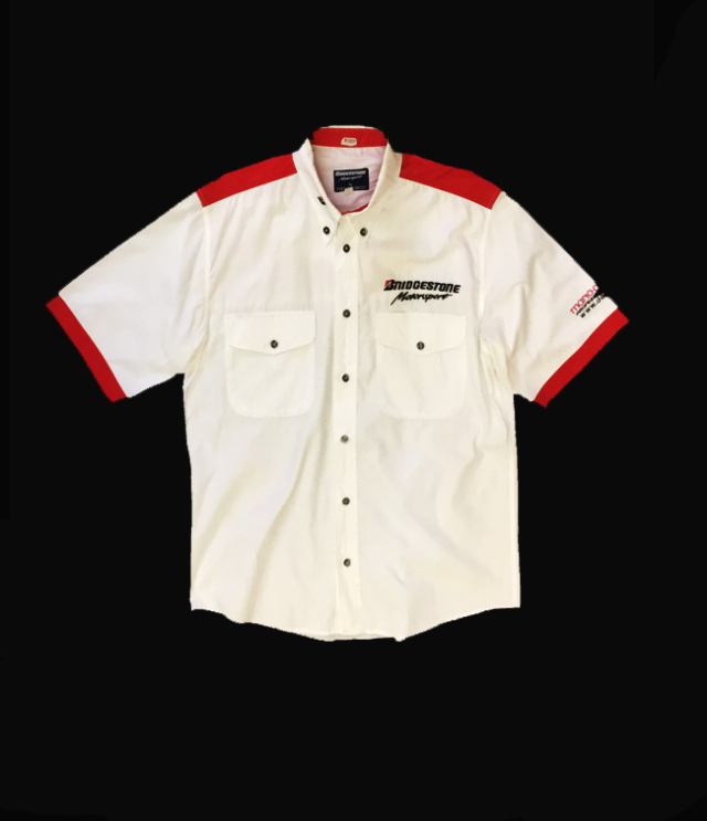 BRIDGESTONE(ブリヂストン)Motorsport チームスタッフ支給品 PITシャツ USED サイズM