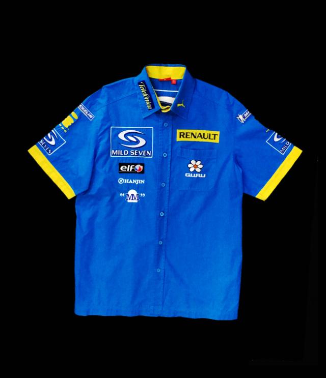 2005 ルノーF1 チーム支給品 PITシャツ USED サイズM(大きめ)