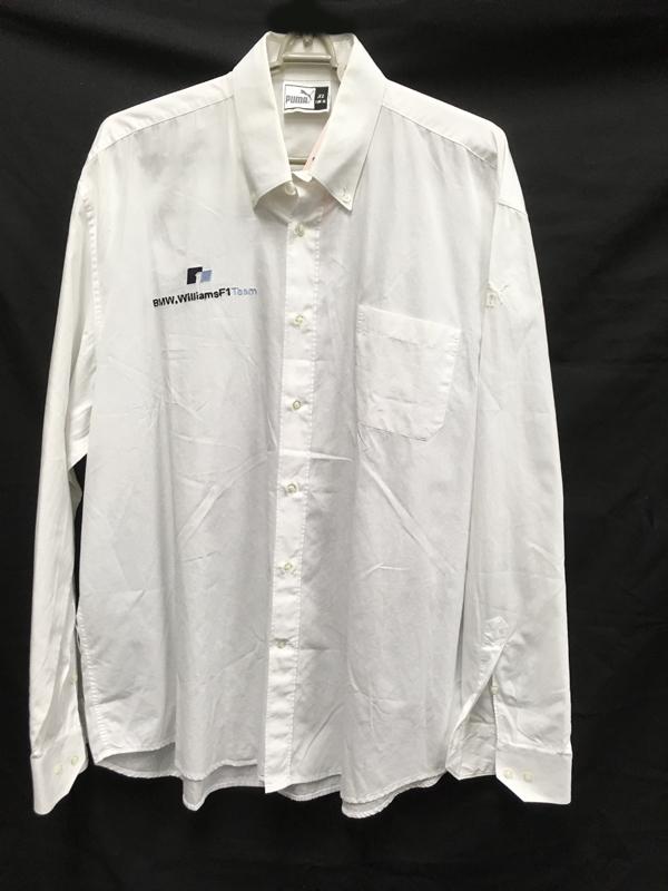 2004 ウィリアムズ チーム支給品 トラベルシャツ USED サイズXL