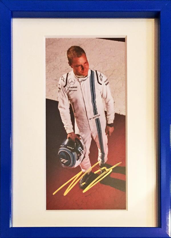 2016 ウィリアムズ V.ボッタス 直筆サイン入り ドライバーズカード(額装品)
