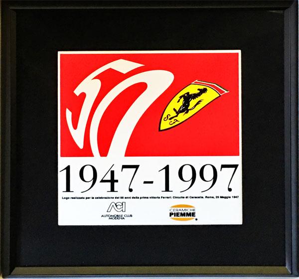【再入荷】フェラーリ 創立50周年記念タイル(額装品)