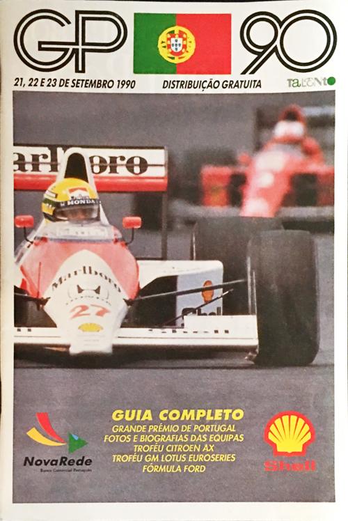 F1公式プログラム 1990年ポルトガルGP ポケット版