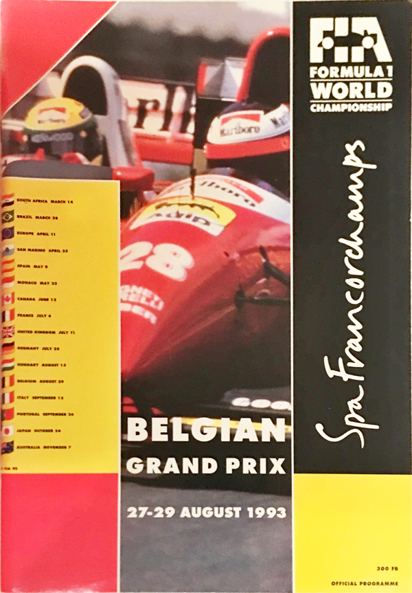 F1公式プログラム 1993年ベルギーGP