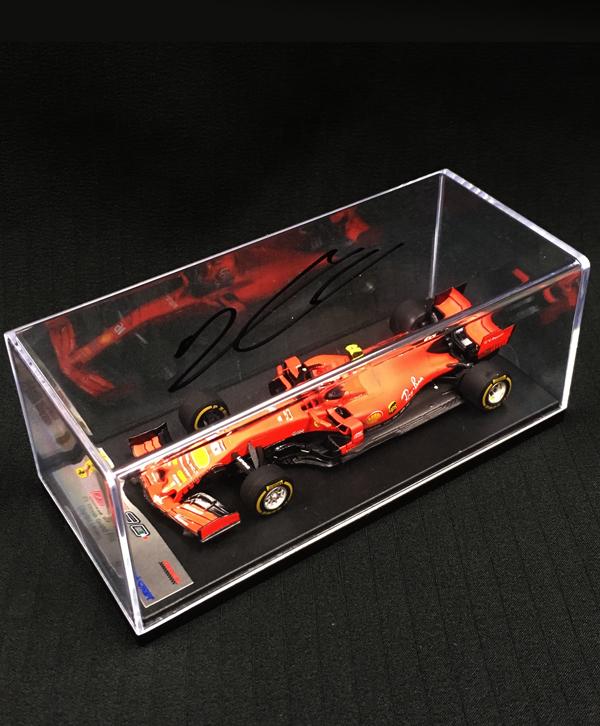 C.ルクレール 直筆サイン入 ルックスマート1/43 フェラーリ SF90 C.ルクレール 2019年中国GP1000th F1 Grand Prix No.16