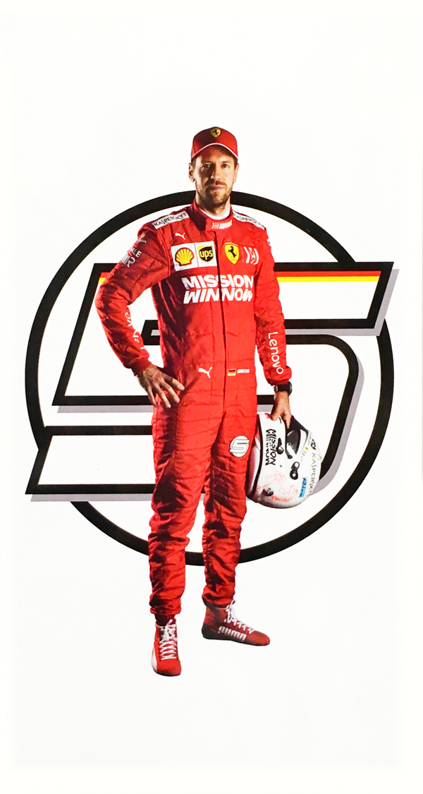 フェラーリ 2019 S.ベッテル ドライバーズカード(MissionWinロゴver)