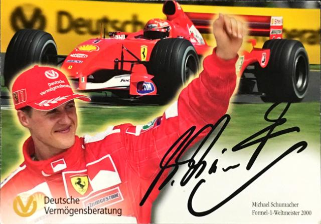 ミハエル・シューマッハ 2001 フェラーリ DVAG スポンサーカード