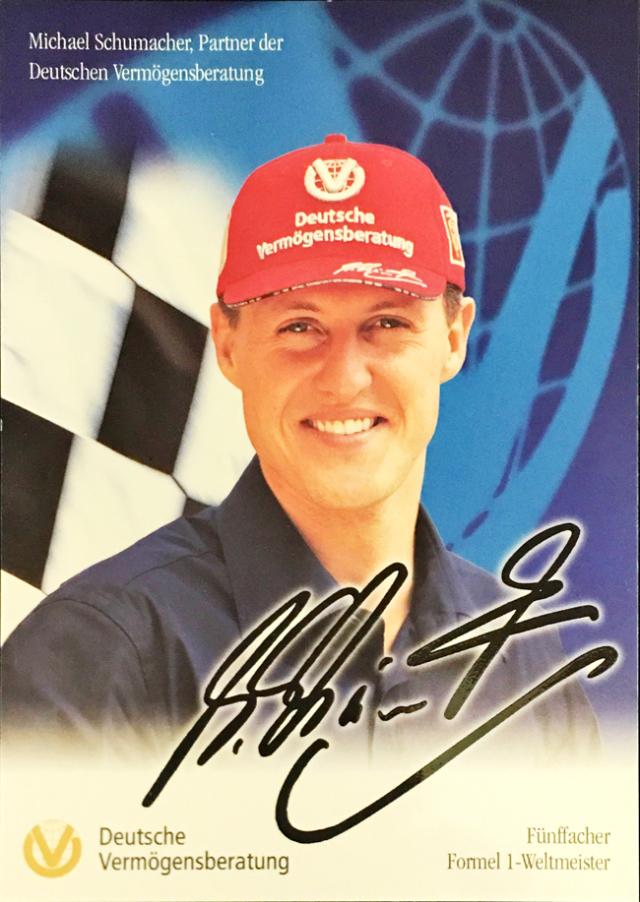ミハエル・シューマッハ 2003 フェラーリ DVAG スポンサーカード