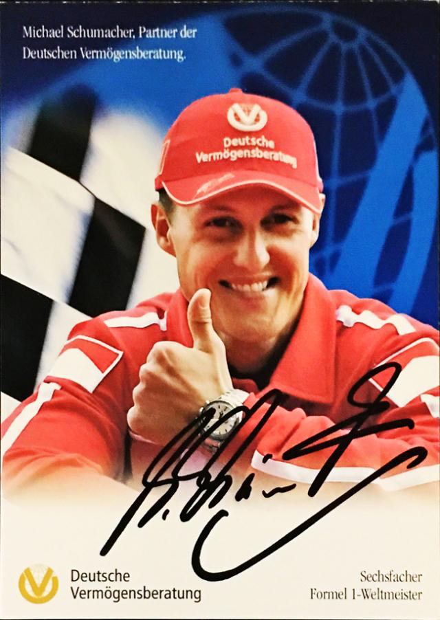 ミハエル・シューマッハ 2004 フェラーリ DVAG スポンサーカード