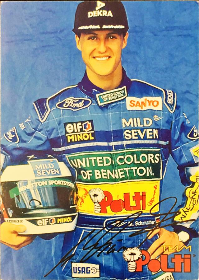 ミハエル・シューマッハ 1994 ベネトン POLTI スポンサーカード
