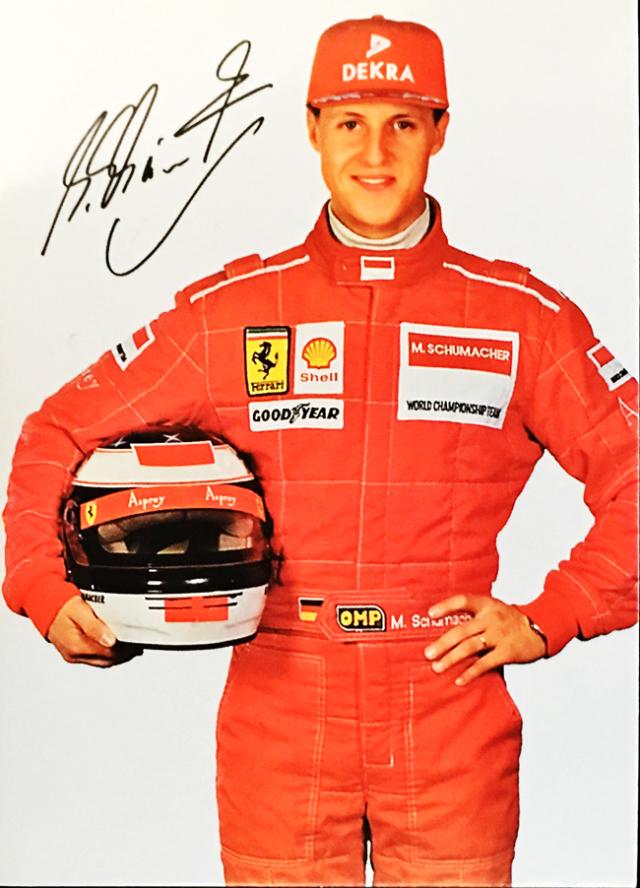 ミハエル・シューマッハ 1996 フェラーリ DEKRA スポンサーカード