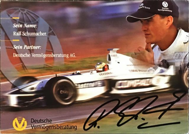 ラルフ・シューマッハ 2000 ウィリアムズ DVAG スポンサーカード