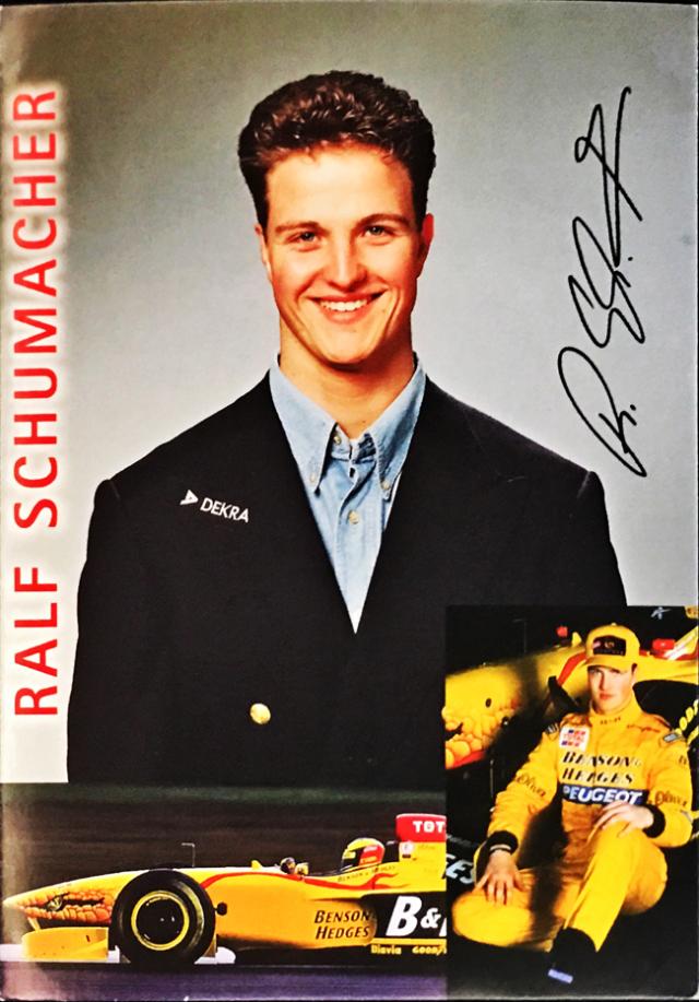 ラルフ・シューマッハ 1997 ジョーダン DEKRA スポンサーカード