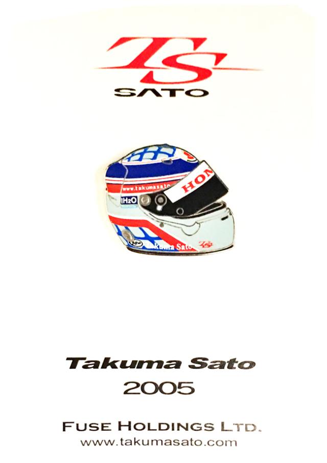 佐藤琢磨 2005ヘルメット ピンバッチ