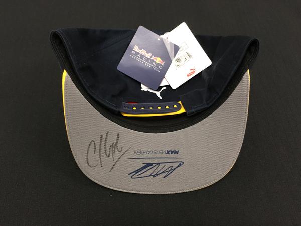 C.ホーナー 直筆サイン入 レッドブル2016 M・フェルスタッペン ドライバーズキャップ (市販品)
