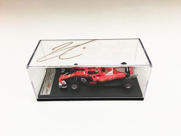 【オートグラフフェアー対象】K.ライコネン直筆サイン入 ルックスマート 1/43 フェラーリ SF70H 2017年オーストラリアGP4位