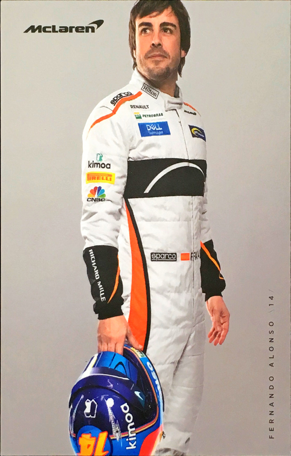 2018 マクラーレン ルノー F.アロンソ ドライバーズカード