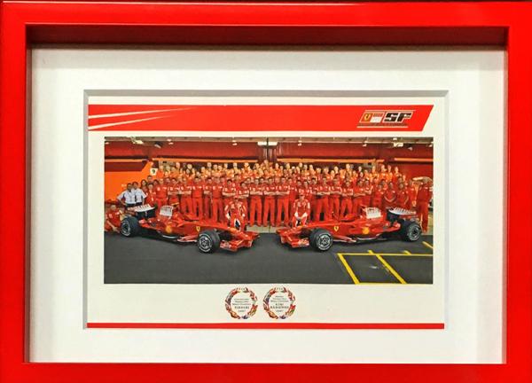 2007 フェラーリ K.ライコネン F1ワールドチャンピオンカード(額装品)