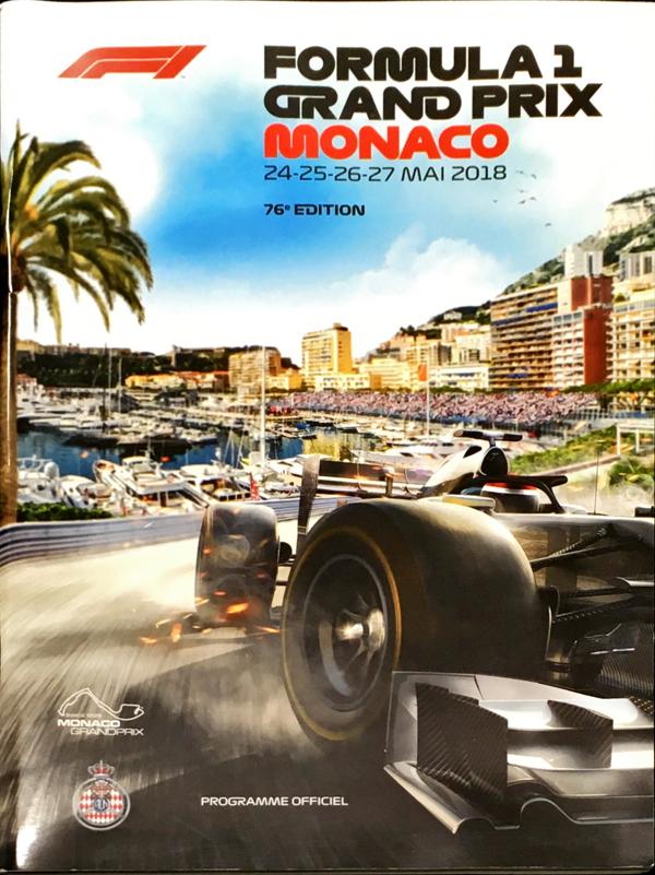 F1公式プログラム 2018年モナコGP