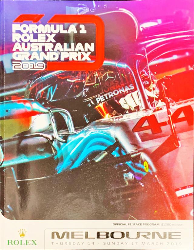F1公式プログラム 2019 オーストラリアGP