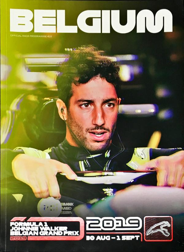 F1公式プログラム 2019年ベルギーGP