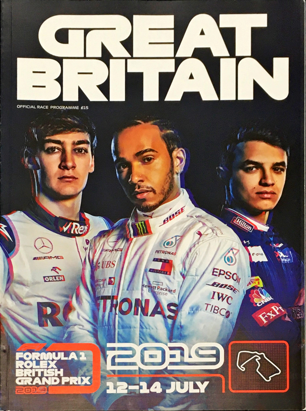 F1公式プログラム 2019年イギリスGP