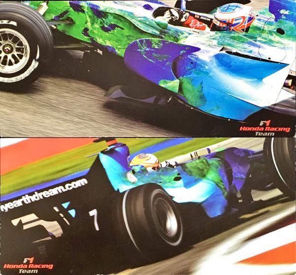 2007 HONDAF1 J.バトン&C.クリエン ドライバーズカード 2枚セット