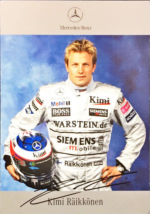 2003 マクラーレン K.ライコネン ドライバーズカード