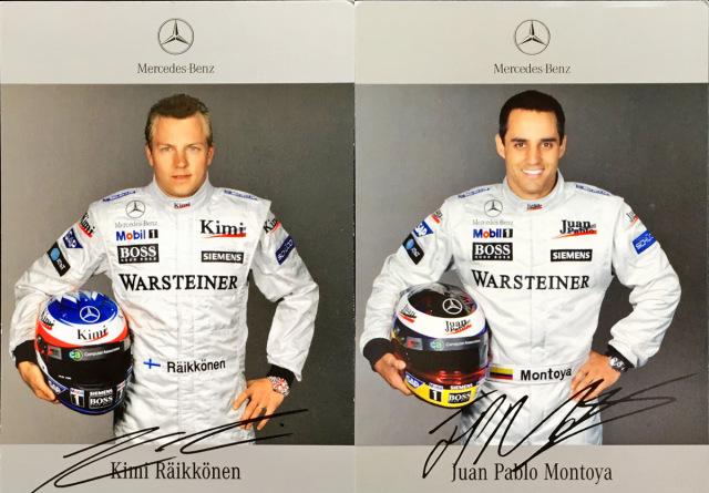 2005 マクラーレン K.ライコネン&J.P.モントーヤ ドライバーズカード2枚セット