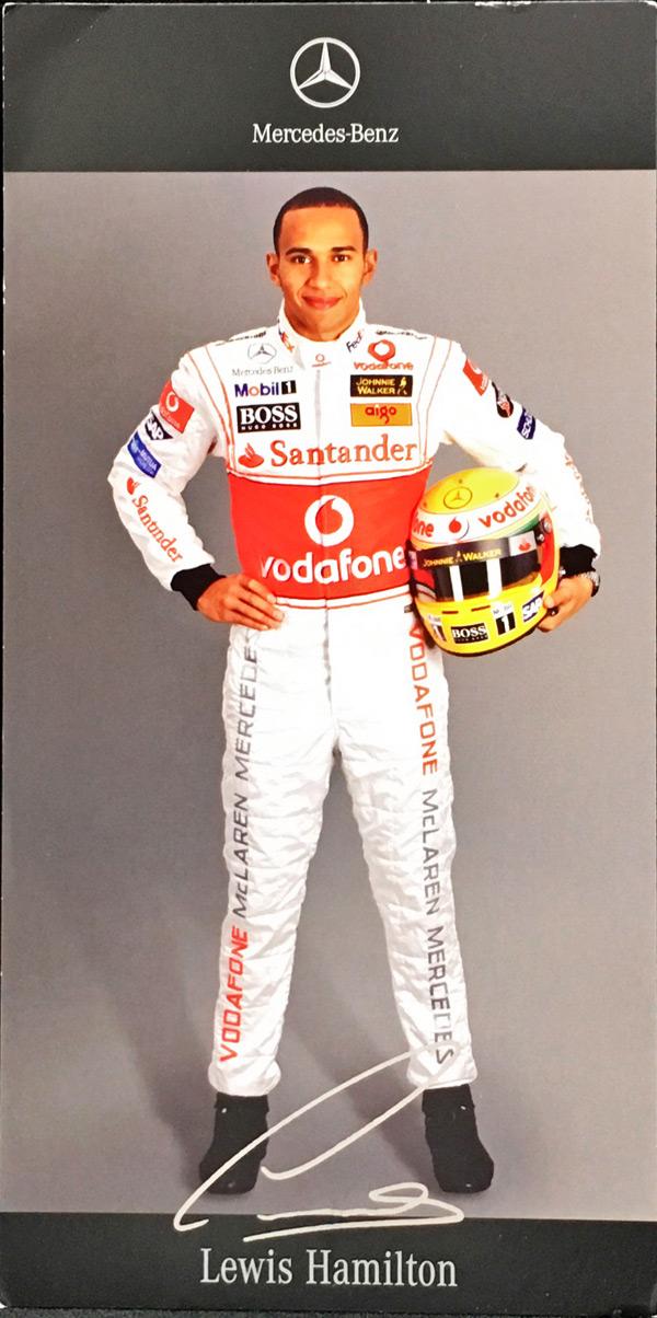 2007 マクラーレン L.ハミルトン ドライバーズカード